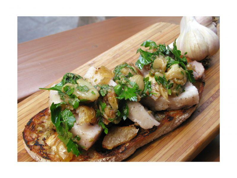 Chef Pasquini's Home Made Garlic Ciabatta Bruschettone