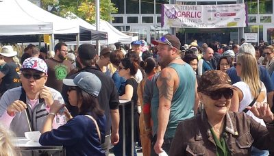 The Toronto Garlic Festival attracts a diverse crowd of garlic lovers from across the city and beyond