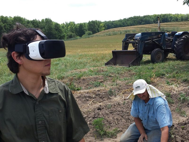 360 degree virtual reality garlic harvesting demo, filmed at Langside Farms in Teeswater, Ontario