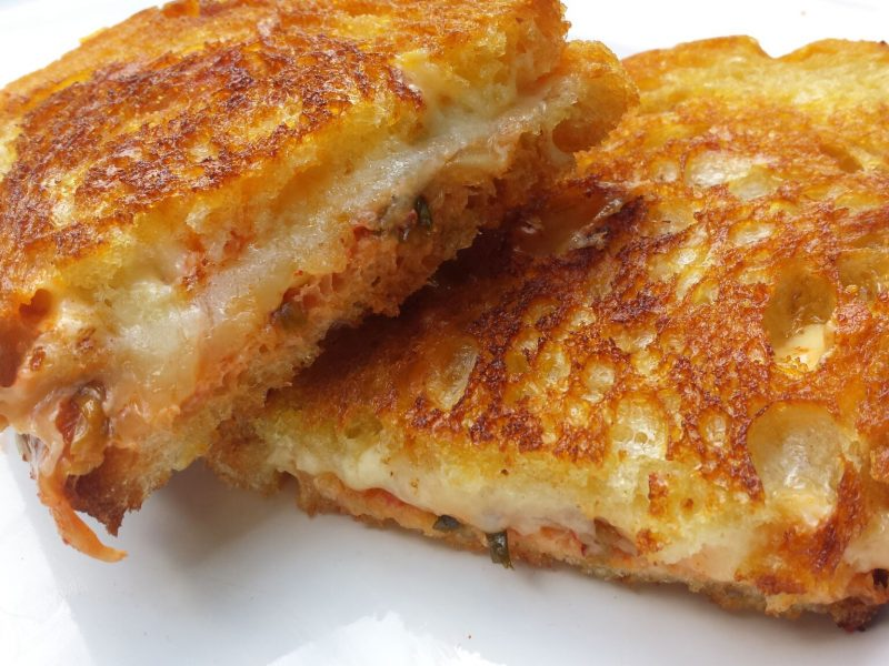 Kimchi Grilled Cheese by Cut the Cheese